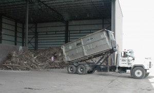 dumping material