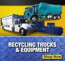recycling garbage trucks for sale