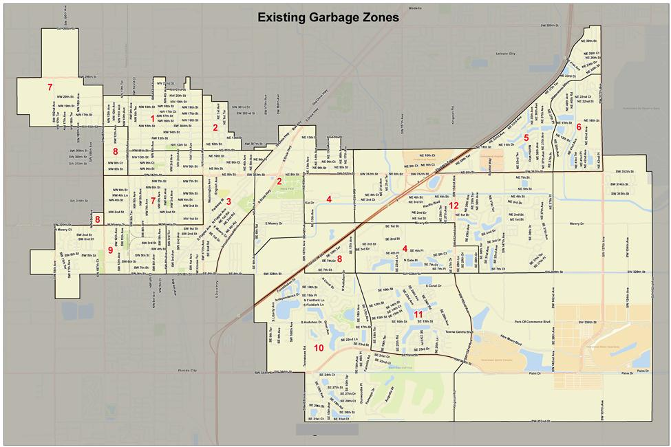 Figure 1. Twelve zones for existing garbage collection[2]